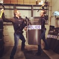 Patrick Flueger and Jesse Lee Soffer