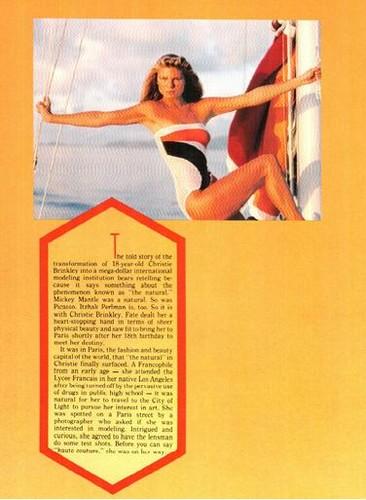 ক্রিস্টি ব্রিঙ্কলে দেওয়ালপত্র titled Platinum magazine, June 1983