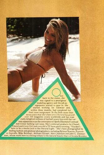 ক্রিস্টি ব্রিঙ্কলে দেওয়ালপত্র containing a bikini, attractiveness, and a portrait called Platinum magazine, June 1983