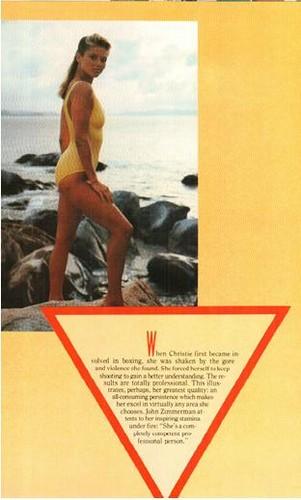 ক্রিস্টি ব্রিঙ্কলে দেওয়ালপত্র with জীবন্ত called Platinum magazine, June 1983