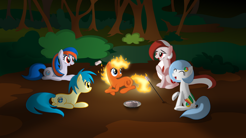 Google Chrome wallpaper entitled Ponified Browsers Camping