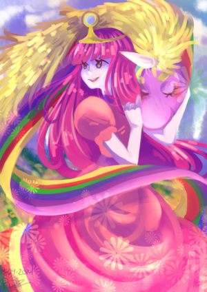 Princess Bubblegum and Lady Rainicorn