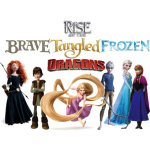 RISE OF THE Rebelle Raiponce La Reine des Neiges dragons