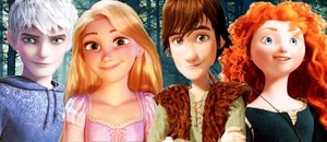 Rapunzel Jack Hiccup and Merida