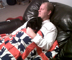Raven With Her Human Daddy