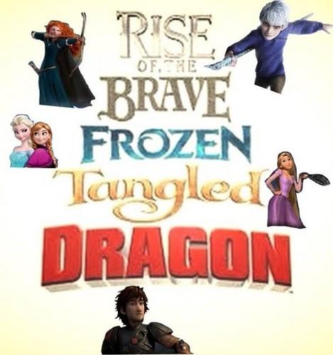 Rise of the 겨울왕국 메리다와 마법의 숲 라푼젤 용 바탕화면 probably containing a sign titled Rise of the 메리다와 마법의 숲 겨울왕국 라푼젤 Dragon