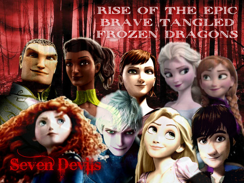 Rise Of The Brave Tangled Frozen Dragons Drawings