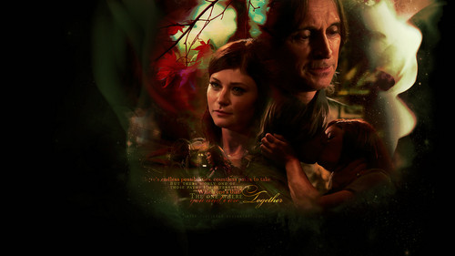 Once Upon A Time fond d'écran called Rumpelstiltskin and Belle