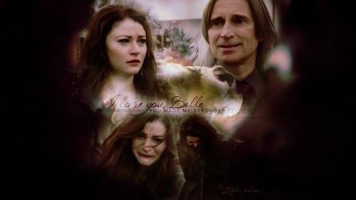 once upon a time wallpaper possibly containing a portrait titled Rumpelstiltskin and Belle