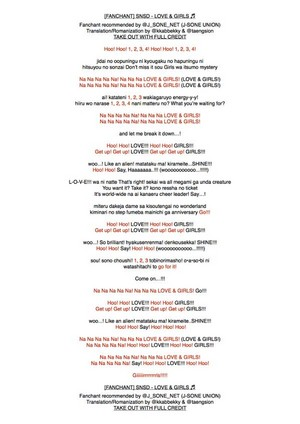 SNSD Fanchants for 3rd Japan Tour on 3/26 (2)