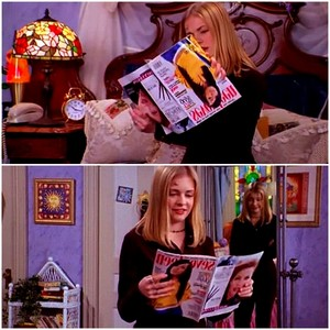 Sabrina the Teenage Witch reading 'Seventeen' magazine with Aaliyah on the cover ♥