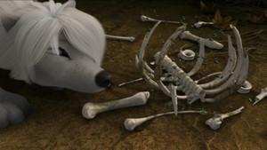 Scraps and bones.