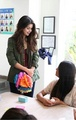 Selena at a children's hospital in LA (April 19) - selena-gomez photo