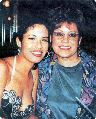 Selena Quintanilla-Pérez wallpaper probably containing a portrait titled Selena with her mom Marcella:)