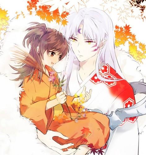 犬夜叉 壁紙 possibly with アニメ titled Sesshomaru and Rin