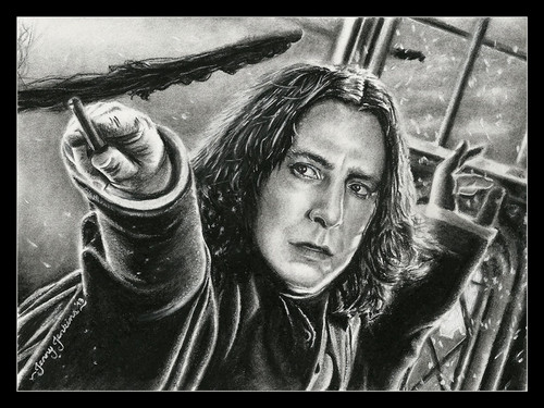 Severus Snape wallpaper probably with an atlantic herring, a herring, and a pacific sardine titled Severus Snape drawing by Jenny Jenkins