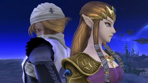 Sheik and Princess Zelda in Super Smash Bros. 4