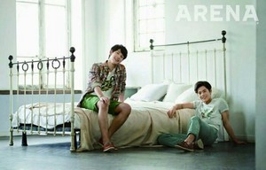 ZE:A's Siwan and Dongjun get cozy at Главная for 'Arena Homme Plus'