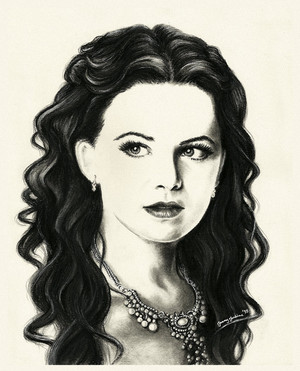 Snow White drawing by Jenny Jenkins