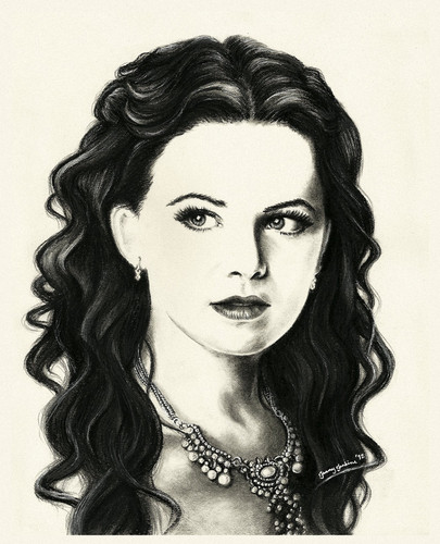 Snow White/Mary Margaret Blanchard wallpaper entitled Snow White drawing oleh Jenny Jenkins