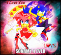 SonAmy 4 Ever - sonamy fan art