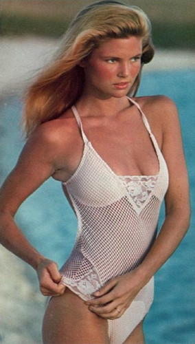 Christie Brinkley wallpaper containing a maillot titled Sports Illustrated 1978 Swimsuit Issue