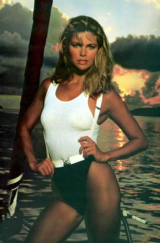 ক্রিস্টি ব্রিঙ্কলে দেওয়ালপত্র with a maillot and a leotard titled Sports Illustrated 1980 photoshoot