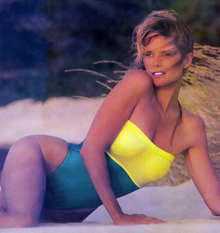 Christie Brinkley wallpaper possibly with a maillot and skin titled Sports Illustrated 1989 Swimsuit Issue