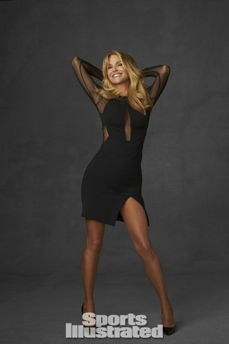 Christie Brinkley wallpaper containing a leotard called Sports Illustrated 2014 Legends