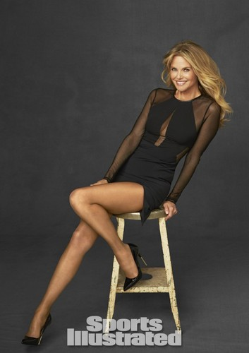 Christie Brinkley wallpaper possibly containing bare legs, tights, and a leotard titled Sports Illustrated 2014 Legends