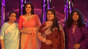 Sridevi with singers