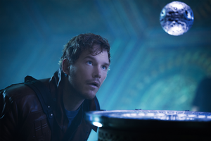 Star-Lord gazing at the Orb