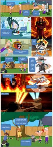 アバター 伝説の少年アン 壁紙 entitled Strip アバター and Phineas and Ferb