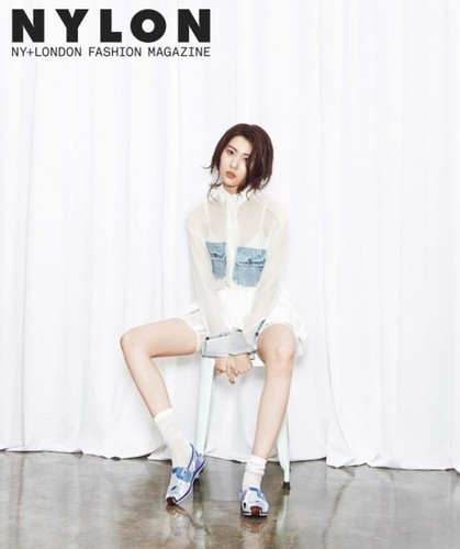 Sunmi Обои possibly with a well dressed person, a playsuit, and a банный халат, халат entitled Sunmi 'Nylon'