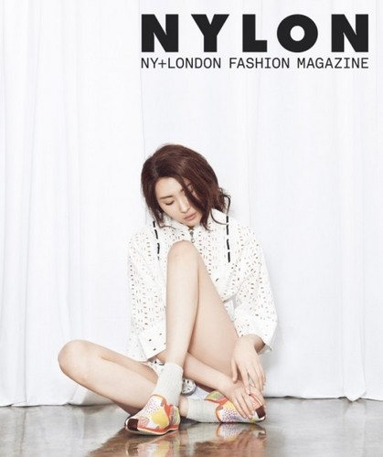 Sunmi Обои possibly with bare legs, hosiery, and a hip boot titled Sunmi 'Nylon'