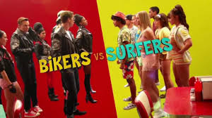 Surfer vs. Bikers