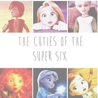 Rise of the 겨울왕국 메리다와 마법의 숲 라푼젤 용 바탕화면 possibly with 아니메 titled The Cuties of the Super Six