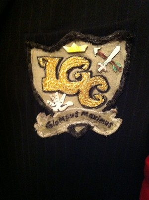 The LGC Uniform:  Jacket,  Arm Band, and club coat of arms