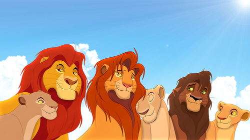 라이온 킹 바탕화면 titled The Lion King Couples