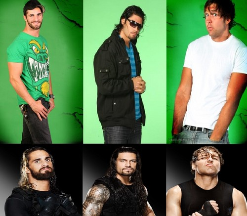 The Shield (WWE) wallpaper containing a well dressed person and an outerwear called The Shield - Then and Now