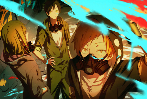 Mekaku City Actors wallpaper titled The Trio of Mekakushi Dan