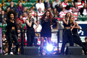 The girls performing at the Twickenham Stadium today