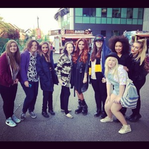 The girls with fans today