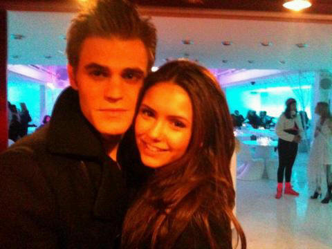 Stelena vs Delena پیپر وال probably with a فر, سمور coat, a business suit, and a portrait entitled The perfect couple