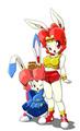 Tokugawa Usako & Usa no Tsubone - anime fan art