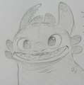 Toothless Scketch by Dean DeBlois - how-to-train-your-dragon photo