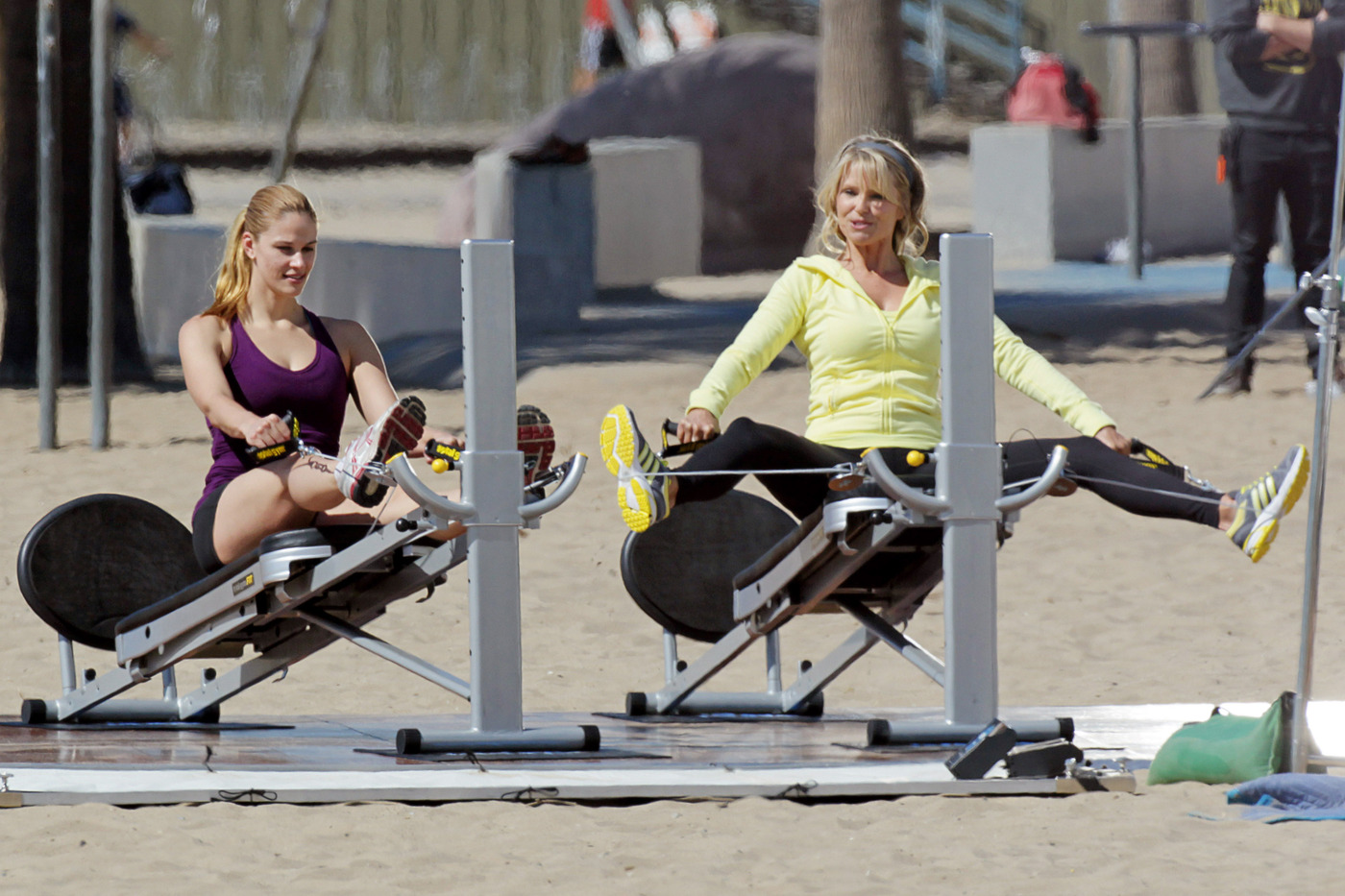 Total gym infomercial taping christie brinkley photo