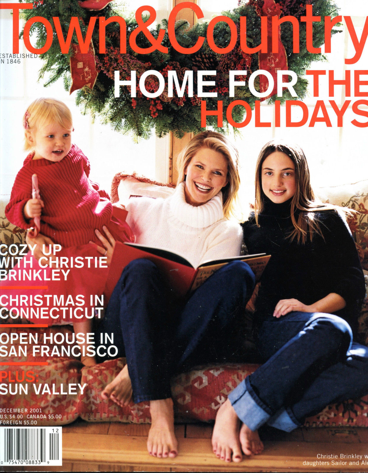 Town and Country magazine, December 2001