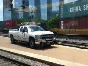Union pacific high rail pickup