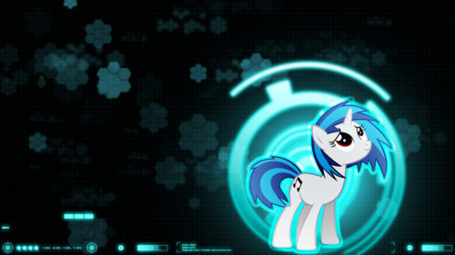 My Little Pony Friendship is Magic wallpaper probably with a compact disk and a turntable called Vinyl Scratch Wallpaper